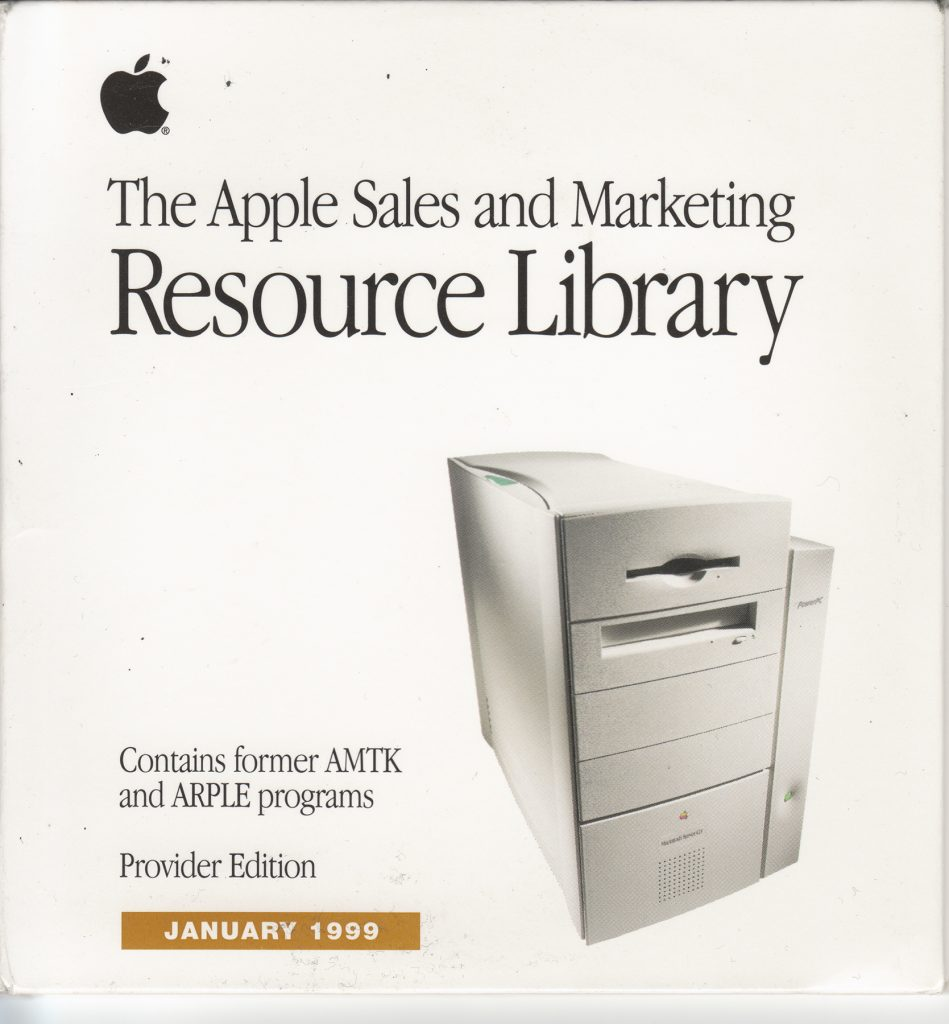 Apple Sales and Marketing Resource Library January 1999 CD Pack cover