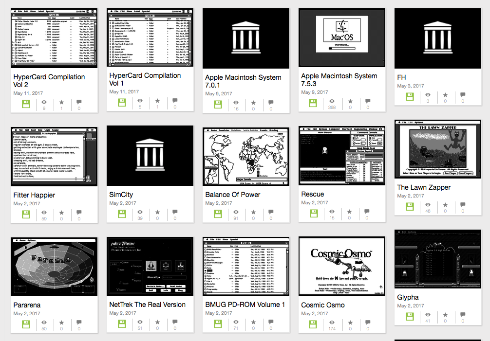 Emulated Macintosh software at the Internet Archive